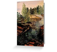 Rocky Stream - Back to Nature Greeting Card