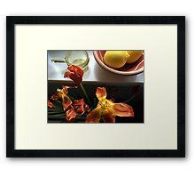 Stil leben in Orange and Yellow Framed Print