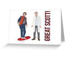 Back to the Future - Great Scott! Greeting Card