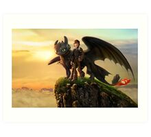 How To Train Your Dragon 10 Art Print