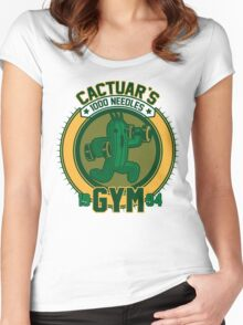 Cactuar´s Gym Women's Fitted Scoop T-Shirt