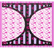 Heart love retro style gifts Photographic Print