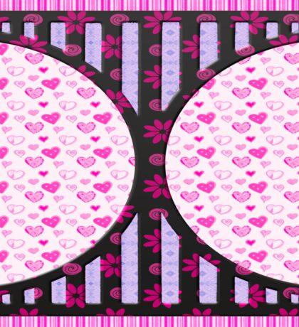 Heart love retro style gifts Sticker