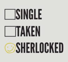 SINGLE TAKEN SHERLOCKED by fandomfashions