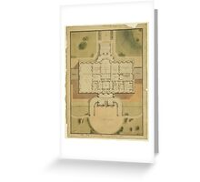 The White House Washington D.C. Site Plan and Principle Story Plan Greeting Card