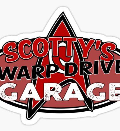 Scotty's Warp Drive Garage Sticker