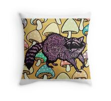 Not for Raccoons Throw Pillow