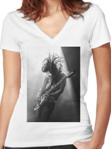 Rock'n'Roll Women's Fitted V-Neck T-Shirt