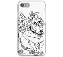 American Bully Breed Dog Pitbull Caricature Art iPhone Case/Skin