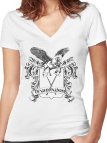 Beauxbatons School Crest Women's Fitted V-Neck T-Shirt