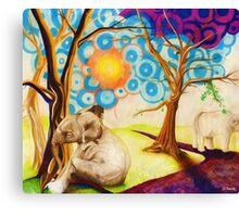 Psychedelic Elephants Canvas Print