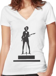 st vincent annie clark Women's Fitted V-Neck T-Shirt