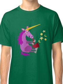 Funny Cool Purple Unicorn Playing Saxophone Classic T-Shirt