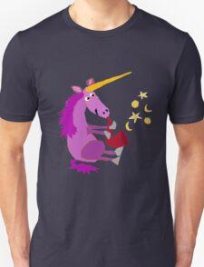 Funny Cool Purple Unicorn Playing Saxophone Unisex T-Shirt