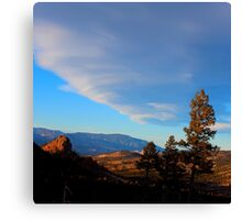Lenticular clouds before sunset, Colorado Canvas Print
