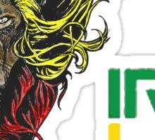Reggae Rasta Iron, Lion, Zion 3 Sticker