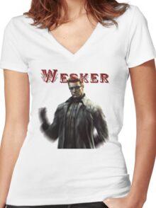 Resident Evil: Wesker Women's Fitted V-Neck T-Shirt