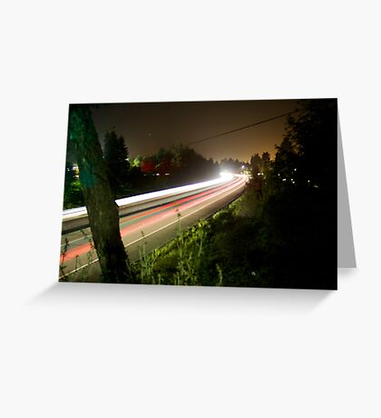 Freeway Streaks Greeting Card