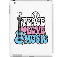 Peace, Love, Music iPad Case/Skin