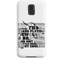 Dungeons & Dragons and Courage Samsung Galaxy Case/Skin