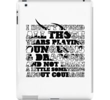 Dungeons & Dragons and Courage iPad Case/Skin