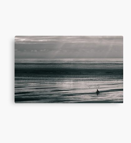 Lonely cyclist Canvas Print