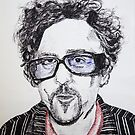 Tim Burton pen portrait  by Sarah Horsman