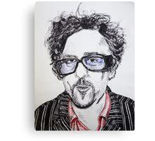 Tim Burton pen portrait  Canvas Print