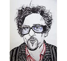 Tim Burton pen portrait  Photographic Print
