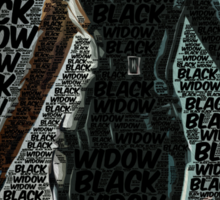 Captain America: The Winter Soldier, Black Widow Poster with text Sticker