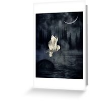 The owl and her mystical moon Greeting Card