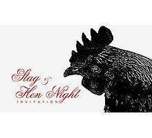 Stag & Hen Night Invitation VRS2 Photographic Print