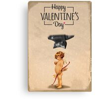 Happy Valentine's day - Die Cupid Canvas Print