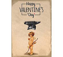 Happy Valentine's day - Die Cupid Photographic Print