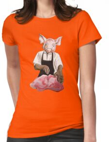 Cannibalpigsm Womens Fitted T-Shirt