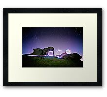 Light Spheres & Star Trails Framed Print