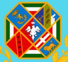 Flag of Lazio Region of Italy  Sticker