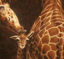 Love's Golden Touch - Giraffe Painting Sticker