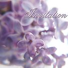 Invitation with romantic lilac by vivendulies