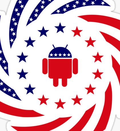 Android Murican Patriot Flag Series Sticker