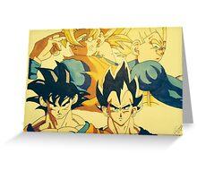 Goku & Vegeta Greeting Card