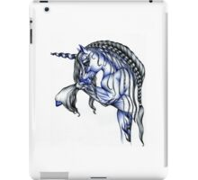 Blue Flame Unicorn in Ball Pen Ink .... iPad Case/Skin