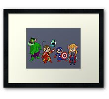 Rescuers Assemble!  Framed Print