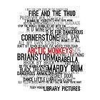Arctic Monkeys Song Collage by LeaGerard