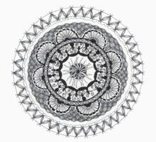 Zendala - Zentangle®-Inspired Art - ZIA 18 One Piece - Short Sleeve
