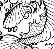 Fantasy Koi Ink Color Page Splashy Tattoo Flash Art Sticker