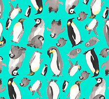 penguins pillow by yelenasayko