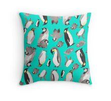 penguins pillow Throw Pillow