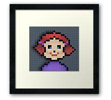 Pixel Girl Framed Print
