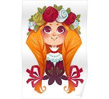 The rosy flower girl Poster
